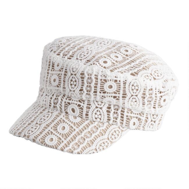 Ivory Lace Newsboy Hat