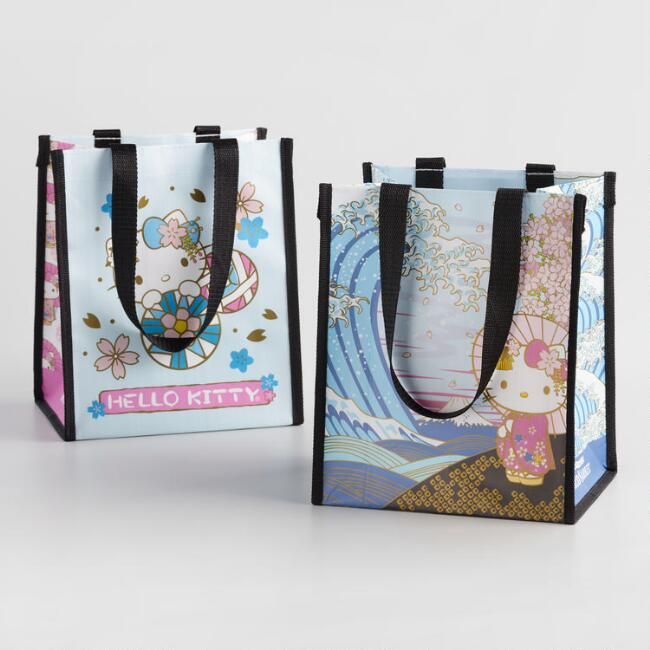 Small Spring Hello Kitty Tote Bags Set Of 2