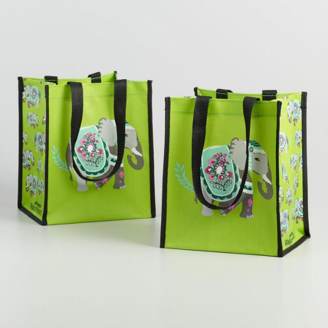 Small Elephant Tote Bags Set Of 2