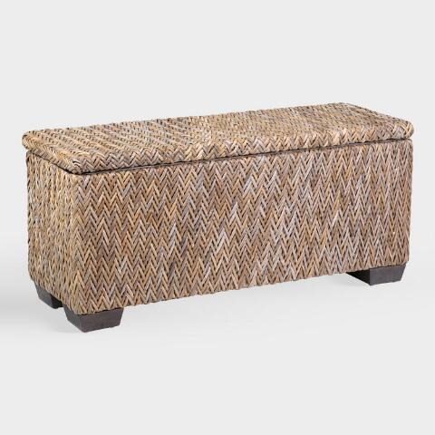 Awesome Rattan Simone Bench With Shoe Storage Creativecarmelina Interior Chair Design Creativecarmelinacom