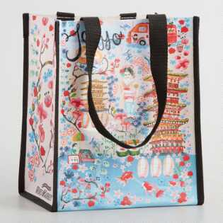 Small Tokyo Illustrated Cities Tote Bags Set Of 2