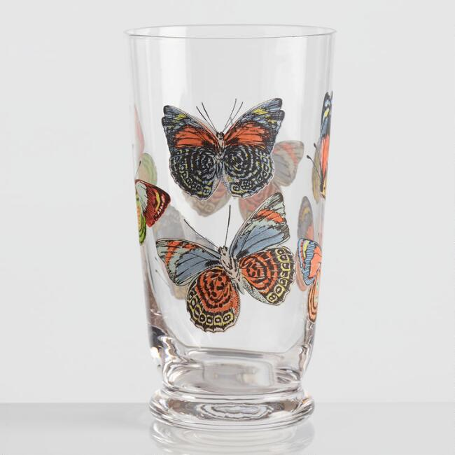 Small Butterfly Glasses Set of 4