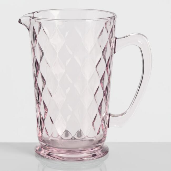 Pink Pressed Glass Pitcher