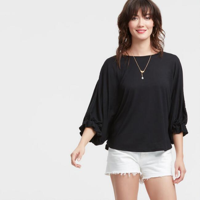 Black Knit Marta Top