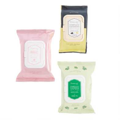 Creme Shop Korean Beauty Facial Cleansing Wipes Collection