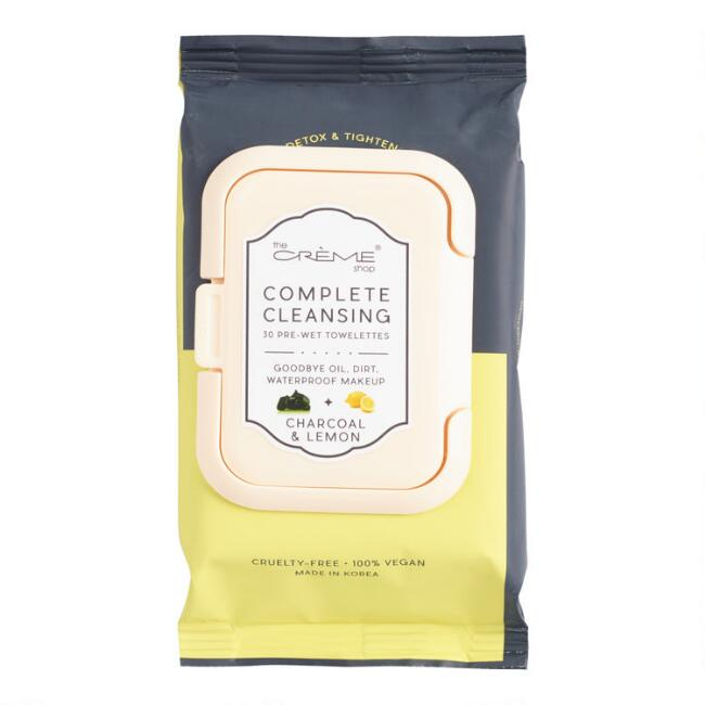 Creme Shop Korean Beauty Charcoal and Lemon Cleansing Wipes