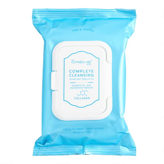 Creme Shop Korean Beauty Collagen Complete Cleansing Wipes