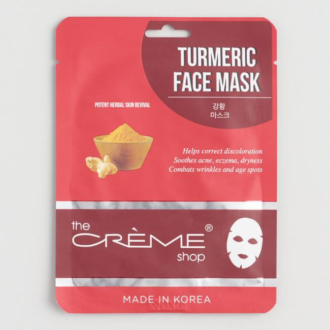 Creme Shop Korean Beauty Turmeric Sheet Mask Set of 2