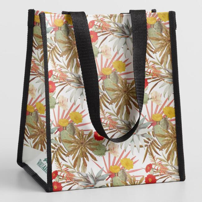 Small Succulent Tote Bags Set Of 2