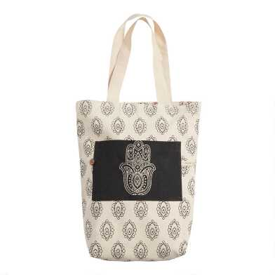 Hamsa Hand Canvas Tote Bag
