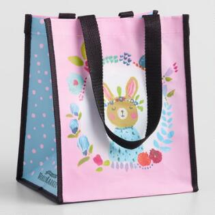 Small Spring Bunny Tote Bags Set Of 2 0e4634741951
