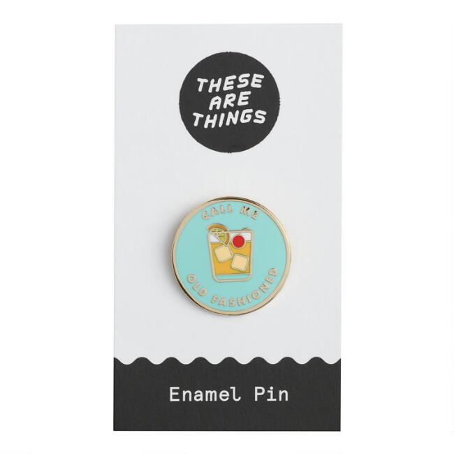Call Me Old Fashioned Enamel Pin