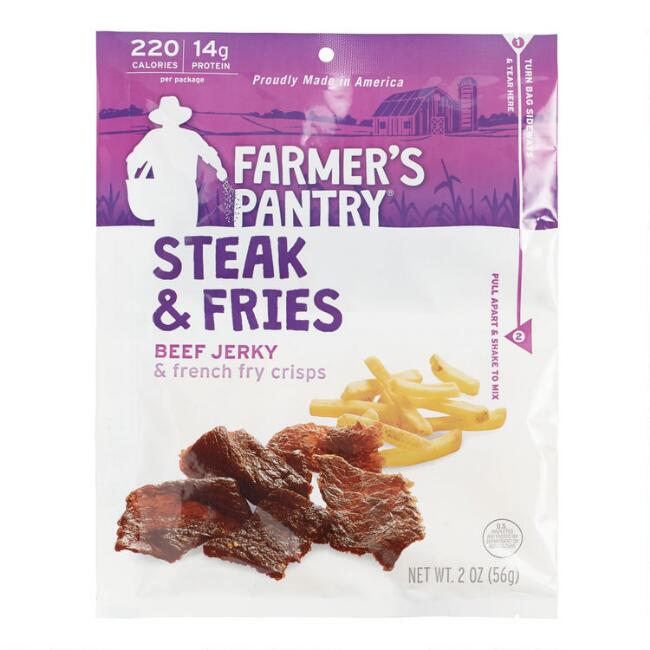 Farmer's Pantry Steak and Fries Jerky Snack