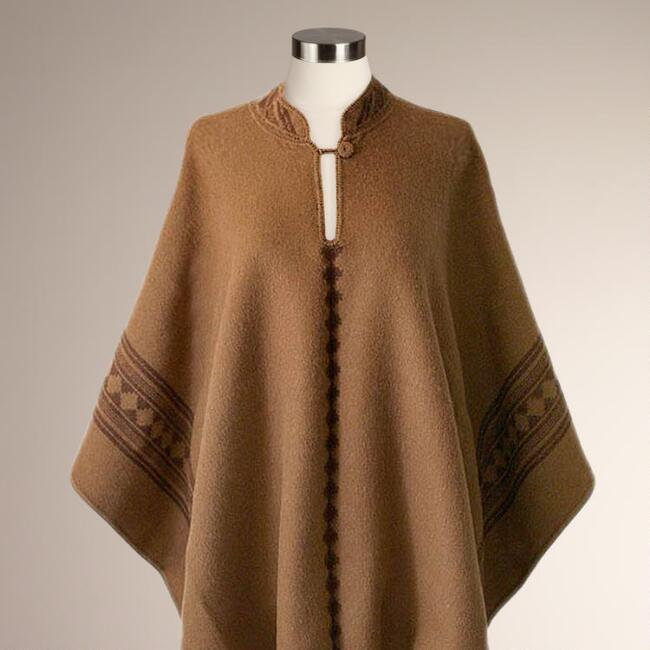 Novica Andean Earth Alpaca Wool Reversible Poncho