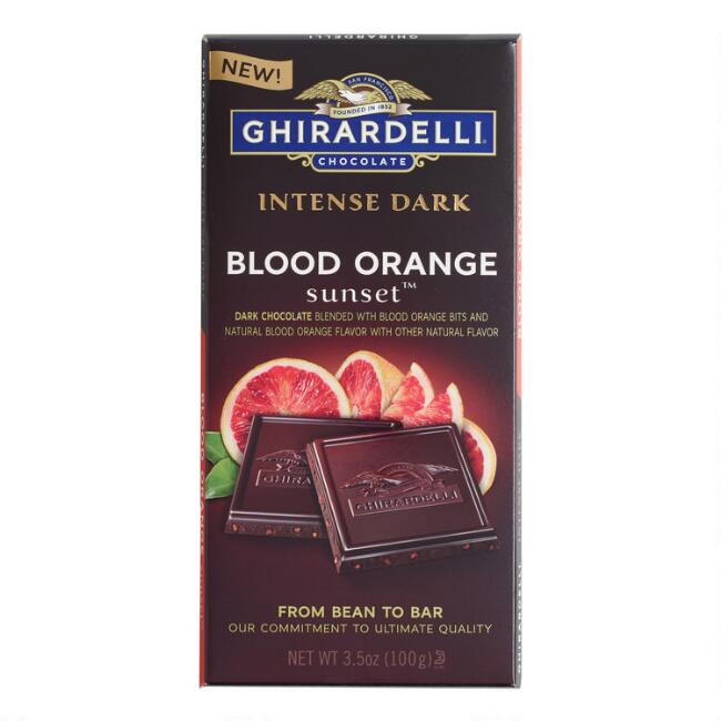 Ghirardelli Intense Dark Blood Orange Sunset Chocolate Bar