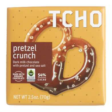 TCHO Pretzel Crunch Dark Milk Chocolate Bar