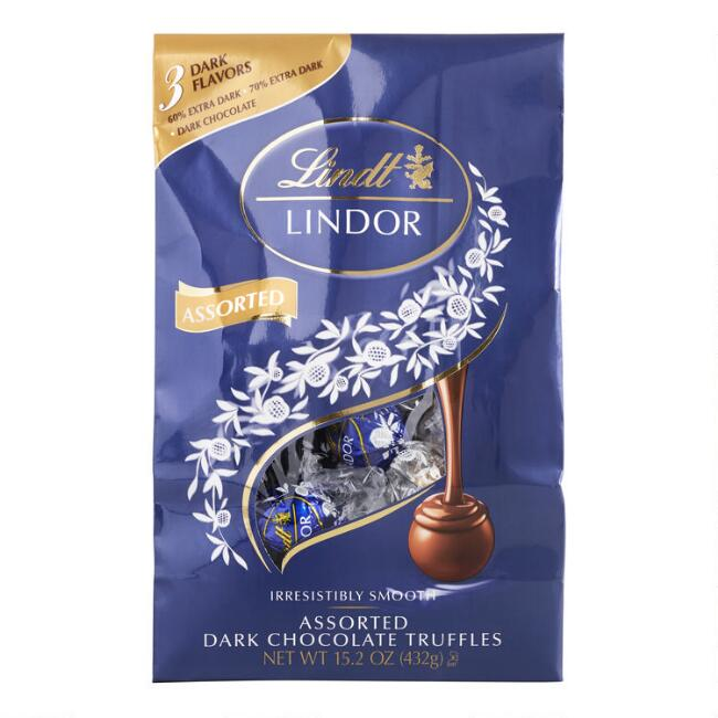 Lindt Lindor Assorted Dark Chocolate Truffle Bag