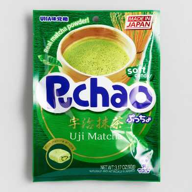 Puchao Matcha Green Tea Gummy Candy Set of 6