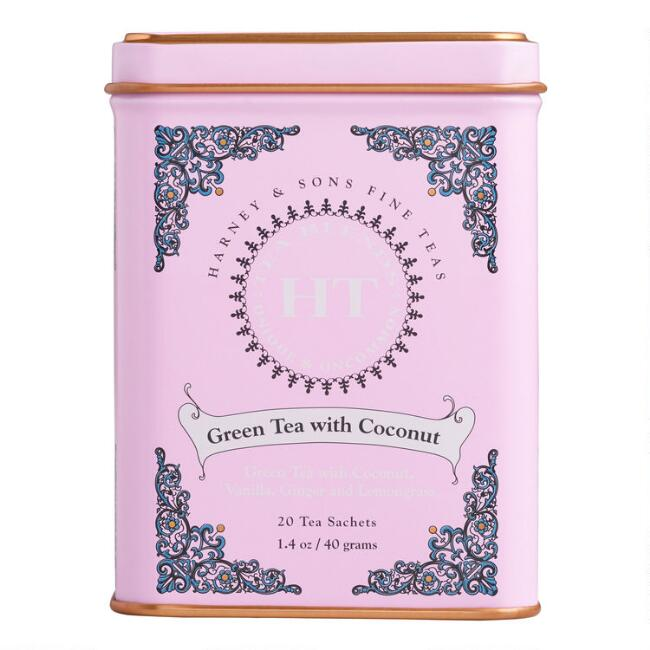 Harney & Sons Green Tea with Coconut Sachets 20 Count