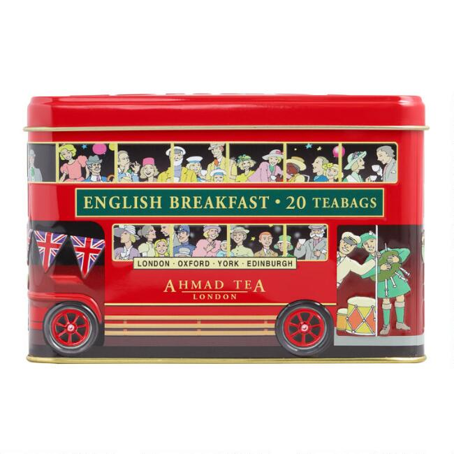 Ahmad London Bus English Breakfast Tea Tin 20 Count