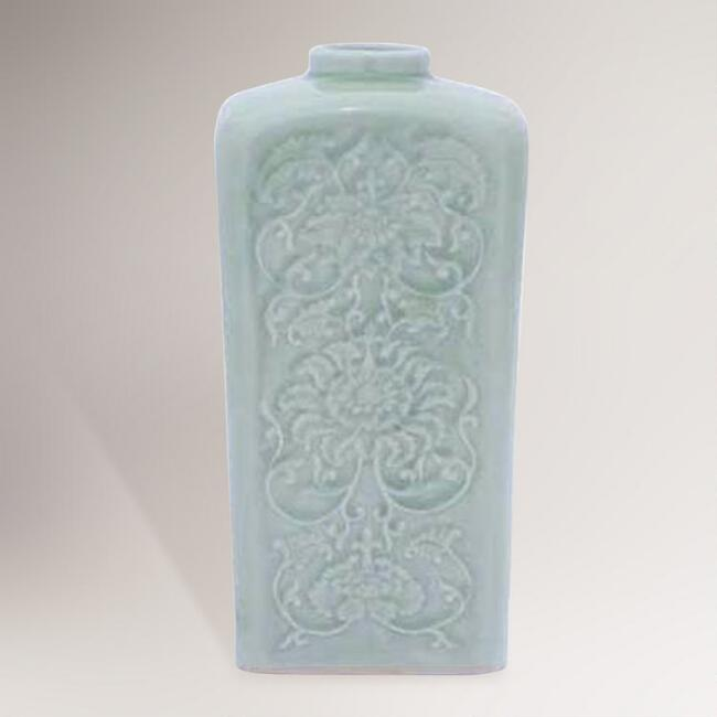World Market Lately: Novica Valley Lotus Celadon Ceramic Vase