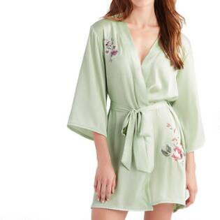 1a90ca18e8fd Light Green Embroidered Evelyn Robe