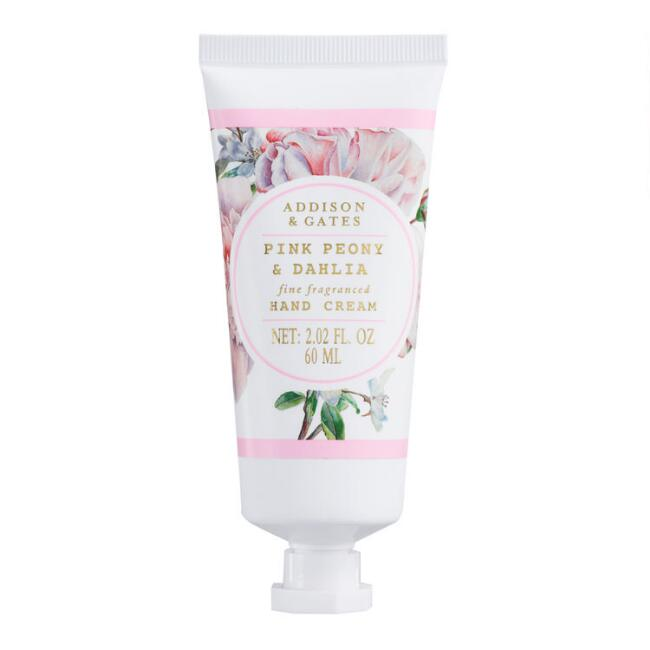 A&G Floral Wreath Pink Peony and Dahlia Hand Cream Set of 2