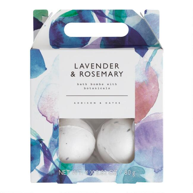 A&G Floral Lavender and Rosemary Bath Bombs 4 Count