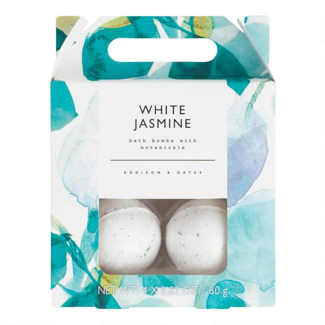 A&G Floral White Jasmine Bath Bombs 4 Count