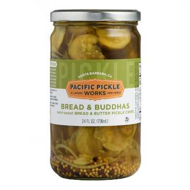 Pacific Pickle Works Bread & Buddhas Semi Sweet Pickle Chips