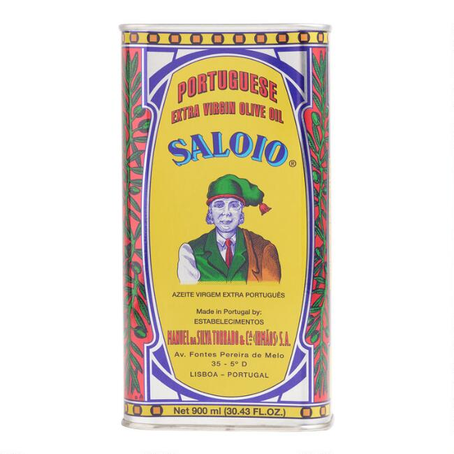 Large Saloio Portuguese Olive Oil Tin