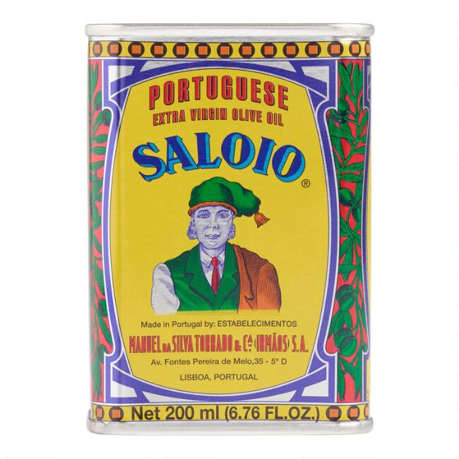 Small Saloio Portuguese Olive Oil Tin