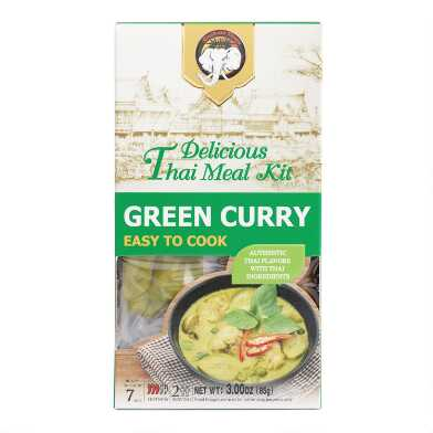 Elephant King Green Curry Thai Meal Kit Set of 2
