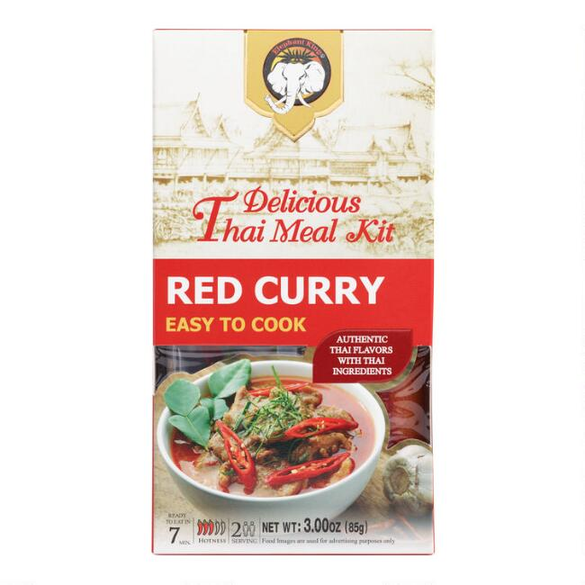 Elephant King Red Curry Thai Meal Kit Set of 2