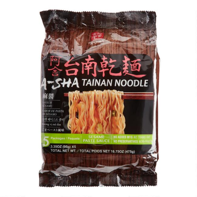 Asha Tainan Noodles with Sesame Paste Sauce 5 Pack