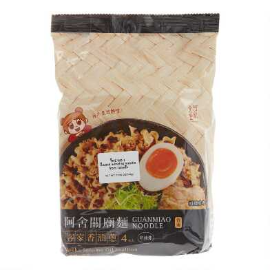Asha Hakka Sesame Oil Scallion Guanmiao Noodles 4 Pack