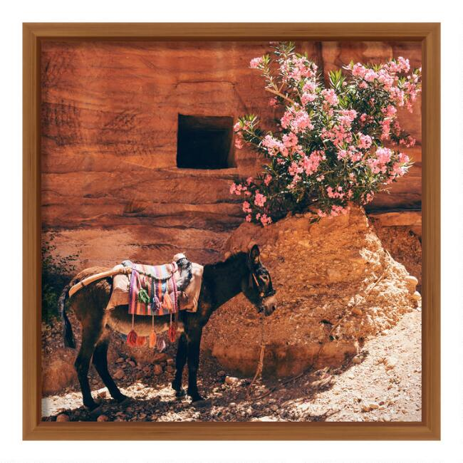 Traveling Donkey Framed Wall Art