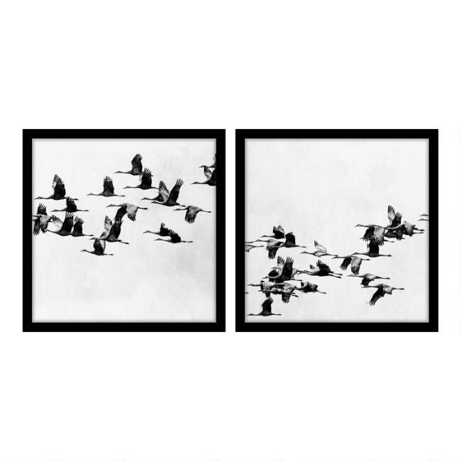 Migration Flocks Framed Wall Art Set Of 2