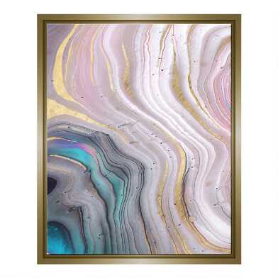 Pastel Geode Framed Canvas Wall Art