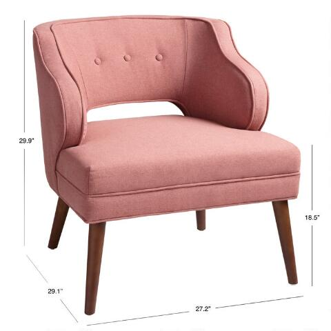 Incredible Rose Pink Tyley Upholstered Chair Andrewgaddart Wooden Chair Designs For Living Room Andrewgaddartcom