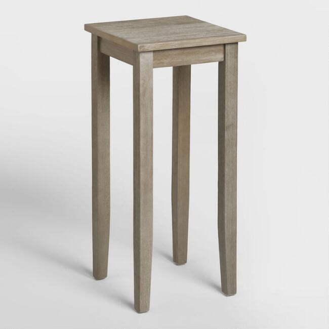 Tall Graywash Chloe Accent Table