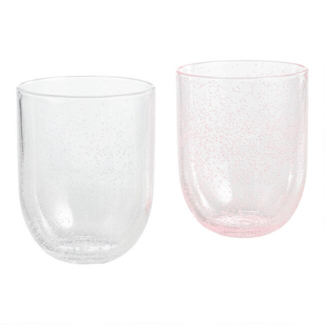 Bubble Double Old Fashioned Acrylic Glasses Set of 4