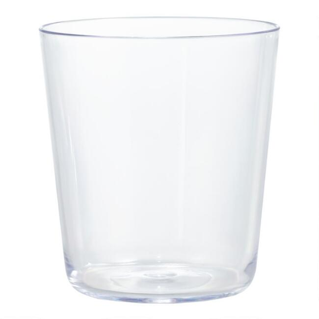 Simple Double Old Fashioned Acrylic Glasses