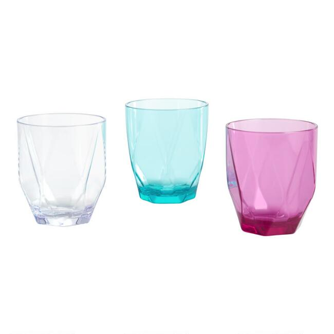 Geometric Prism Acrylic Tumblers Set of 4