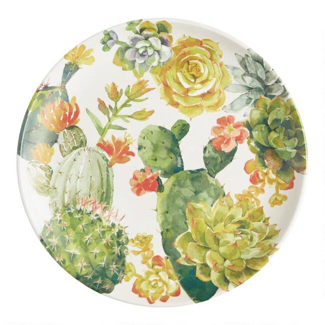 Cactus Melamine Salad Plates Set of 4