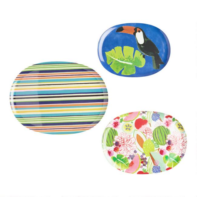Santiago Melamine Serving Trays 3 Pack