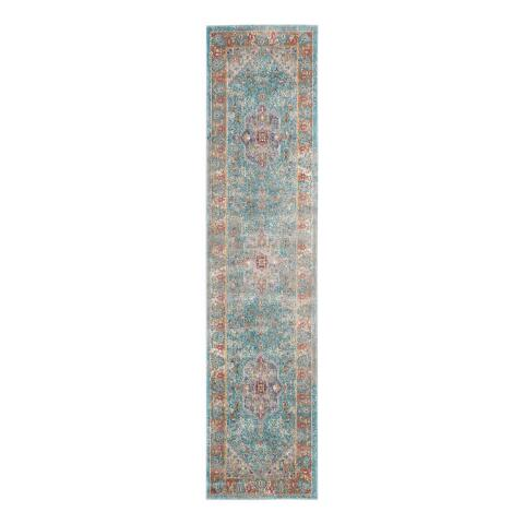 Blue And Cream Medallion Harper Area Rug World Market