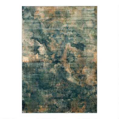 Blue And Copper Abstract Dylan Area Rug