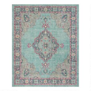 858d56cccdb Blue And Fuchsia Distressed Floral Christina Area Rug