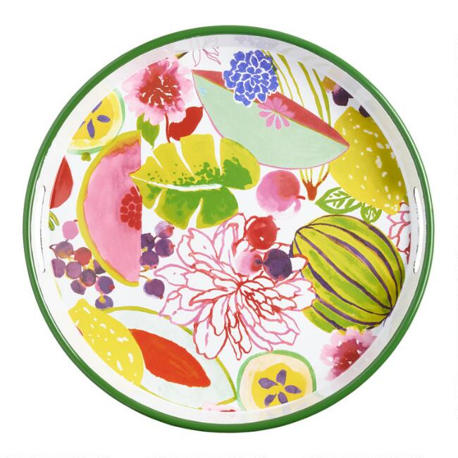 Round Enamel Santiago Serving Tray